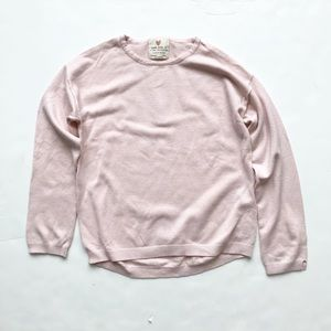 Zara pink light knit sweater GUC 8Y